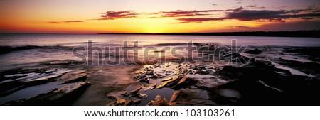 Sunrise at Porcupine Mountain State Park, Lake Superior, Michigan