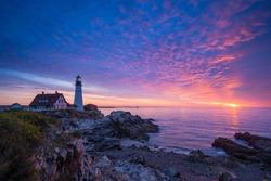 Sunrise at Portland Head Light
