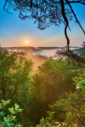 Sunrise at Red River Gorge, KY