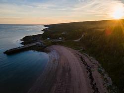 Sunrise at Sandy Cove along the Bay of Fundy, Nova Scotia, Canada