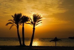 Sunrise at Sinai coast.