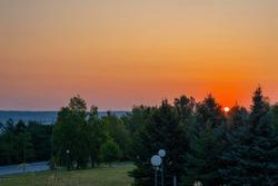 Sunrise at Skobelev's park, near
