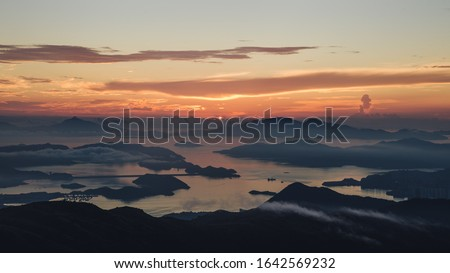 Sunrise at Tai Mo Shan, New Territories, Hong Kong