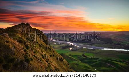Sunrise at Te Mata Peak