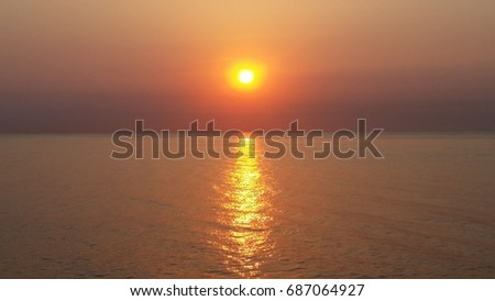 sunrise at the Black sea #687064927