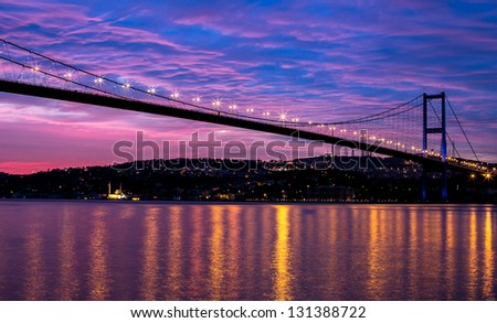 sunrise at the bosporus bridge #131388722