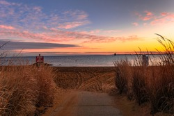 Sunrise at the Chesapeake Bay on Sandy Point Annapolis