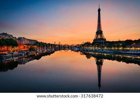 Sunrise at the Eiffel tower, Paris #317638472
