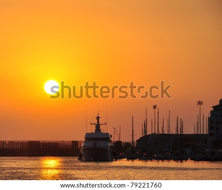 Sunrise at the Gibraltar Marina