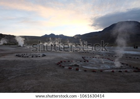 Sunrise at the Heartfelt Geysers