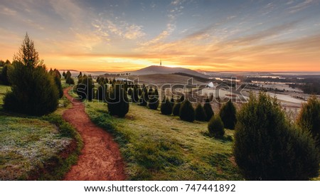Sunrise at the National Arboretum, Canberra