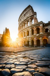 Sunrise at the Rome Colosseum, Italy