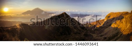 sunrise at the top of batur volcano #1446093641