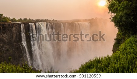 Sunrise at Victoria Falls, Main Falls, Dry Season #501120559