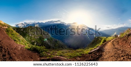 Sunrise at Vilcabamba mountains, Peru #1126225643