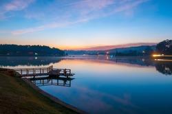 Sunrise at Xuan Huong lake - Dalat , Vietnam