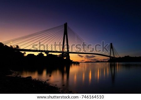sunrise barelang bridge #746164510