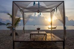 Sunrise beach at Lipe island, Satun Thailand
