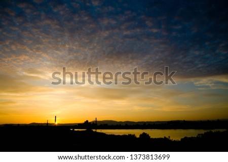 Sunrise clouds and Toyosato Ohashi