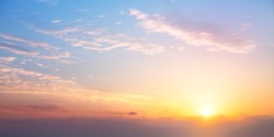 sunrise cloudy sky; Abstract Background of colorful sky concept