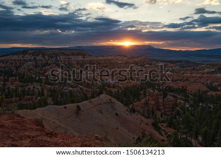 Sunrise form Sunrise Point in Bryce Canyon National Park