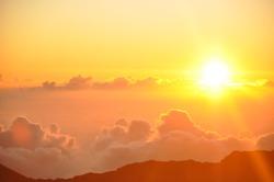 Sunrise from Haleakala Crater in Maui, Hawaii