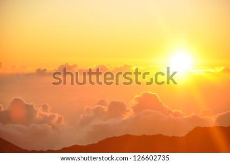 Sunrise from Haleakala Crater in Maui, Hawaii #126602735