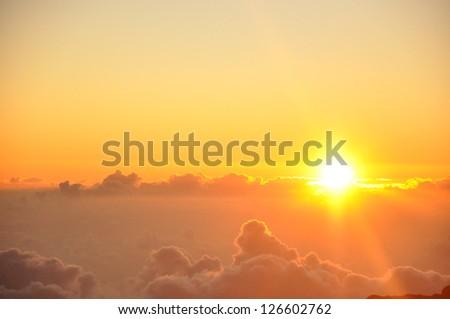 Sunrise from Haleakala Crater in Maui, Hawaii #126602762