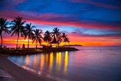 Sunrise from North Borneo, Sabah, Malaysia