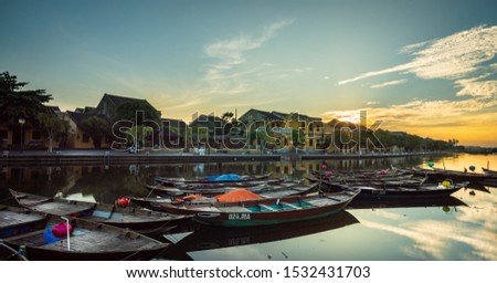 sunrise Hoi An, Vietnam. Hoi An is the World's Cultural heritage site, famous for mixed cultures and architecture
