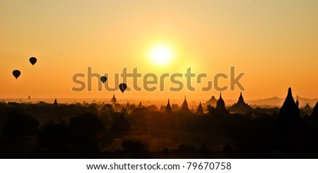 Sunrise in Bagan Burma
