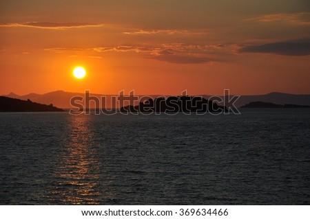 Sunrise in Croatia. #369634466