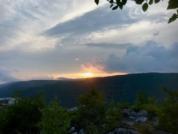 sunrise in dolly sods west Virginia