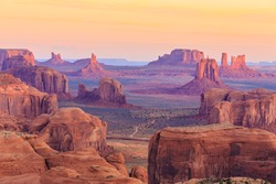 Sunrise in Hunts Mesa, Monument Valley, Arizona, USA