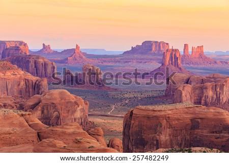 sunrise in hunts mesa  monument ...