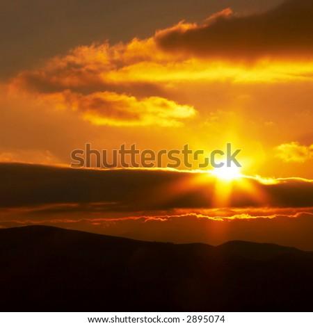 Sunrise in mountain #2895074