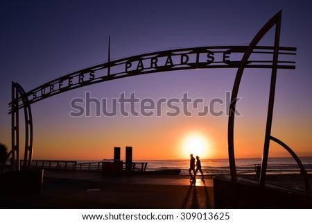 Sunrise in Surfers Paradise