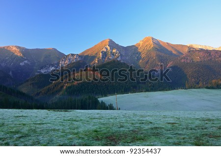 Sunrise in Tatry Bielskie Mountains, Zdiar