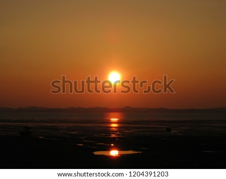 Sunrise in the Beolgyo of Korea