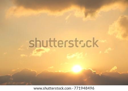 sunrise in the clouds #771948496