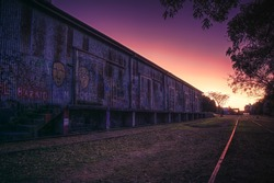 Sunrise in the old station
