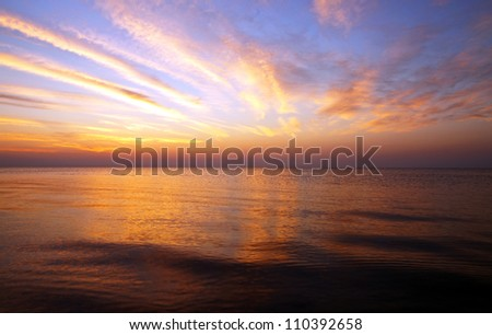 sunrise in the sea #110392658