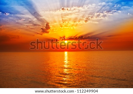 sunrise in the sea