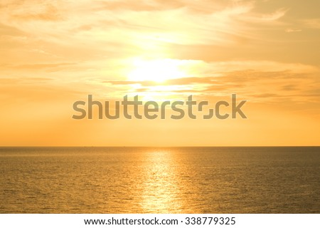 Sunrise in the sea for background.
