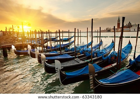 Sunrise in Venice - stock photo