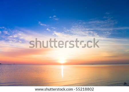 Sunrise is born - stock photo
