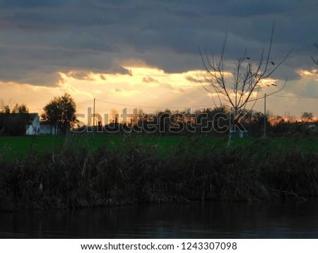 sunrise landscape in nature #1243307098