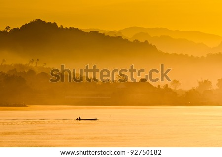 Sunrise, Mist and River for good background and tourism