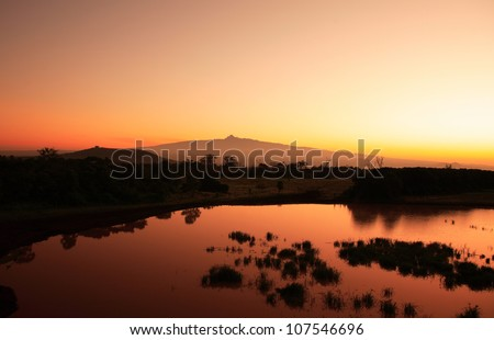 Sunrise Mount Kenya in Africa