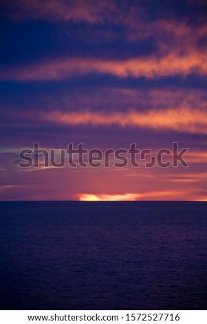 Sunrise near Los Islotes, Baja California Sur, Mexico